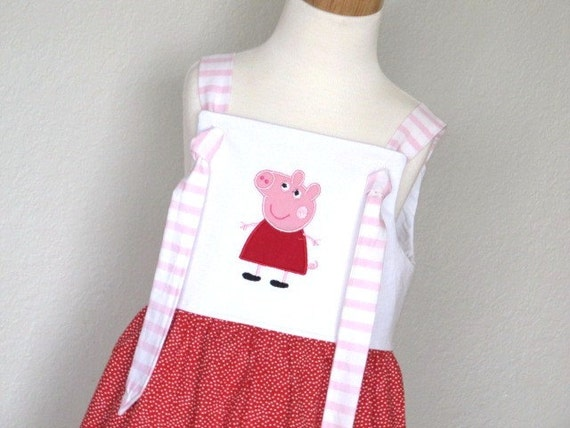 Pig Knot Dress - Available in Sizes 12 mo, 2T, 3T, 4, 5 and 6