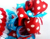 Girls Boutique Layered Hair Bow - Girly Thing - Red, Electric Blue, Teal, White, Zebra, Dots