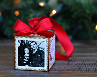 No.23 In Memory of Custom Photo Block Ornament Red Gift