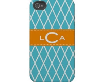 Personalized Cell Phone Cases with Monogram - iPhone 4/4s, 5, iPhone 6 or 6 plus