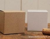 12 - 3 X 3 Favor Boxes // Gift Box // Wedding Favor Box // Kraft Box //