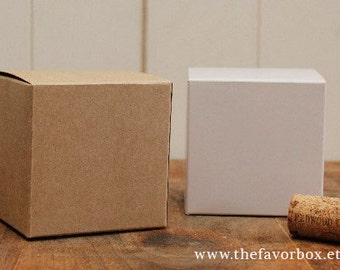 12 - 3 X 3 Favor Boxes // Gift Box // Wedding Favor Box // Kraft Box //