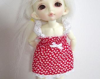 PKF/PukiFee/Lati Tiny Red & White Floral Sun Dress