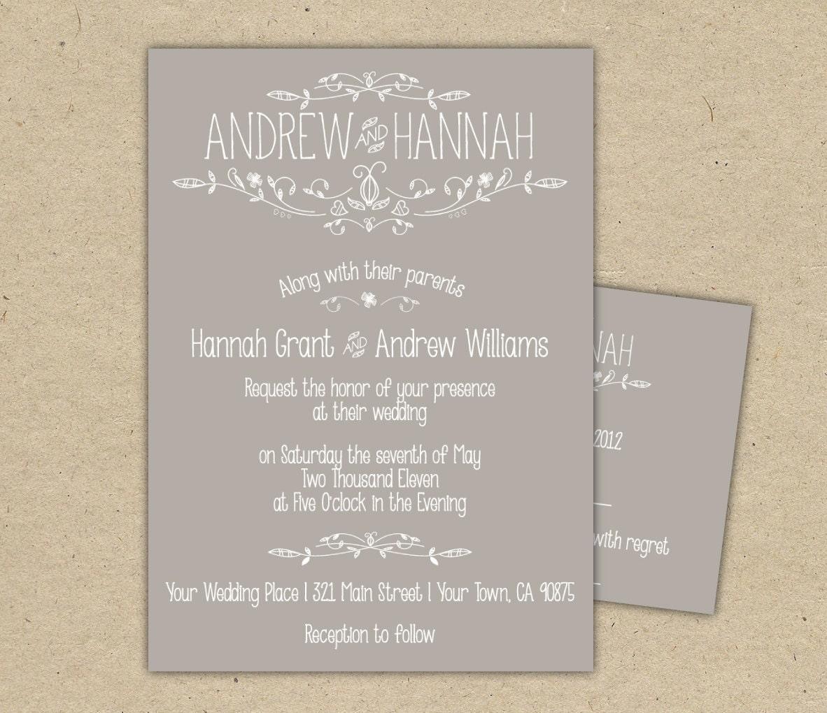 Wedding Invitation Wording Wedding Invitation Wording