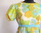 Vintage 60's Hippie Bridesmaid Gown/ Dress