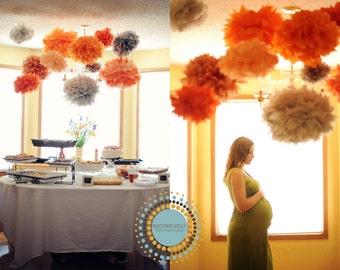 20 Poms ... tissue paper pompoms DIY flowers  ... Choose Your Colors