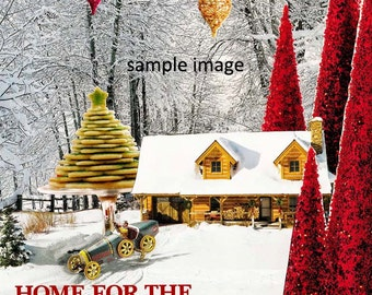 Christmas Card featuring Home for the Holidays collage