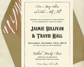 Jaimie & Travis Wedding Invitation Set