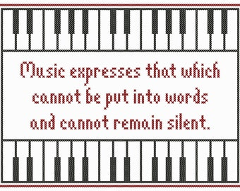 Set of Three MUSICAL EXPRESSIONS Cross Stitch Charts
