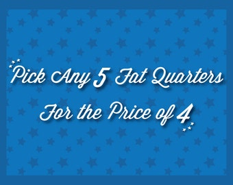 Fat Quarter Bundle: Five for Four Cotton Fabric Fat Quarters