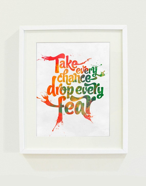 Take Every Chance Art Print // 8x10