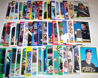 50 Assorted Vintage Pittsburg Pirate Cards