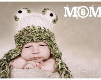 Newborn frog crochet hat girl boy  Newborn photo props photography