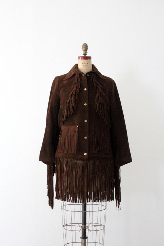 RESERVE.    1960s Suede Fringe Jacket /  Janis Joplin Style