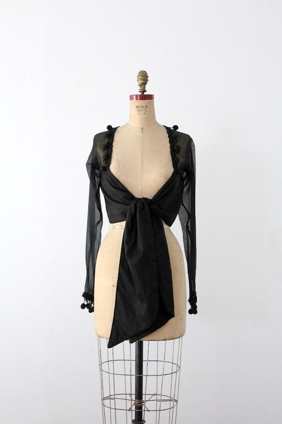 vintage Jenny Bannister silk wrap top
