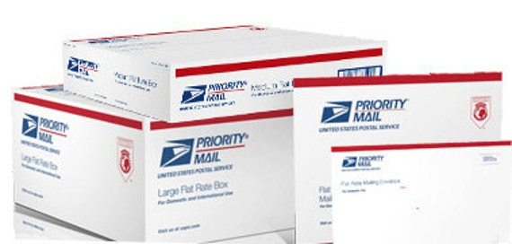 Priority Mail upgrade shipping option (please note, this cannot be used on special sized items)