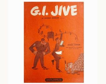 1943 Johnny Mercer sheet music