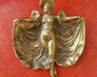 1900's Art Nouveau Brass Catch-All, or dish