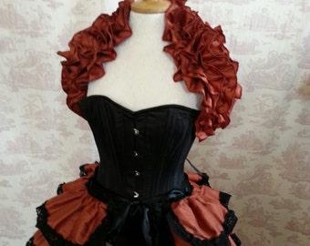 Steampunk Beauty Silk Bustle BURLESQUE   STEAMPUNK WEDDING  By Gothic Burlesque