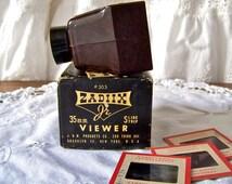 Vintage Slide Viewer Zadiix Junior Original Box Film Viewer Bakelite Slide Strip Viewer Vintage 1950s
