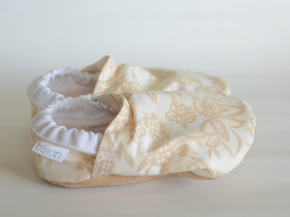 Ivory Bison Booties Size 12 to 18 Months Ready to Ship Flower Girl wedding Baby Toddler White Cream