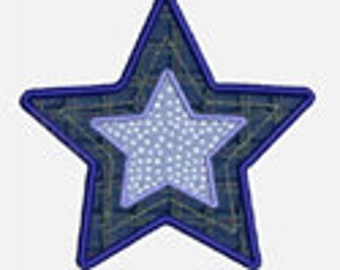 Stars...Embroidery Applique Design...Three sizes for multiple hoops...item1035...INSTANT DOWNLOAD