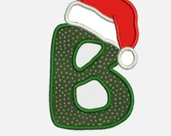 Santa Hat Alphabet A-Z...Embroidery Applique Design...Two sizes for multiple hoops...Item1315...INSTANT DOWNLOAD