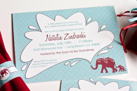 Little Peanut Baby Shower - Customize & Print Yourself