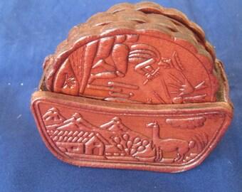 "Leather Coasters 3 1/4""Diameter"