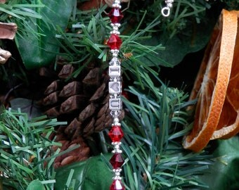 Personalised Christmas Tree Decorations: Festive Ornaments with Swarovski Crystals & Pearls