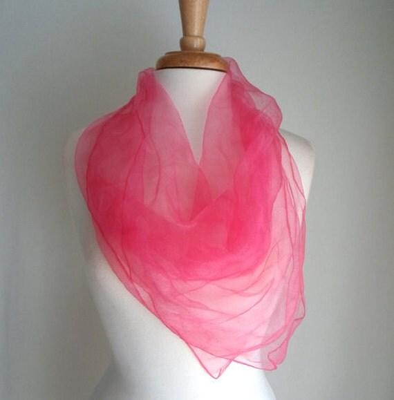 Bright Pink Polka Dot Scarf