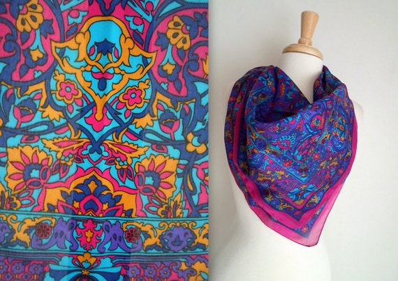 Bold Stained Glass Window Scarf