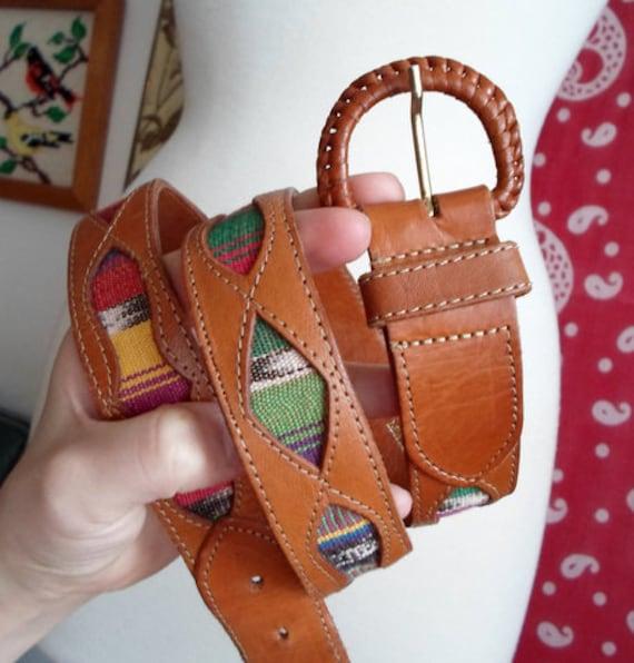 Rainbow Guatemalan Leather Belt