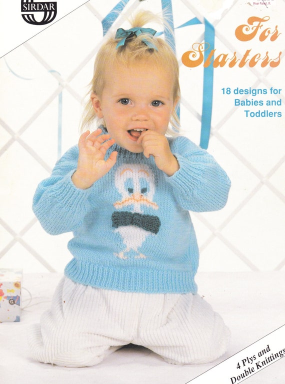 Old Sirdar Knitting Patterns : Knit Patterns Baby Toddler Clothes SIRDAR FOR by TheOldOwl on Etsy