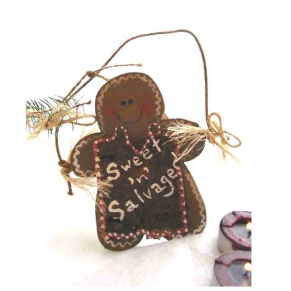 Sweet 'n' Salvaged Gingerbread Man from bits out of the junk pile on the farm