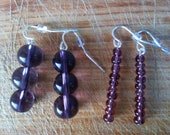 Purple Earring Set Comes with Two Pairs