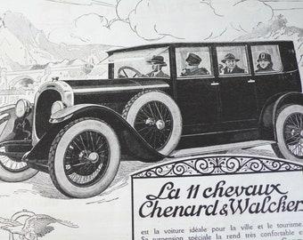 1925 advertisements, french art magazine,  antique ephemera ,black and white adverts, L'illustration Journal, Art Deco literature