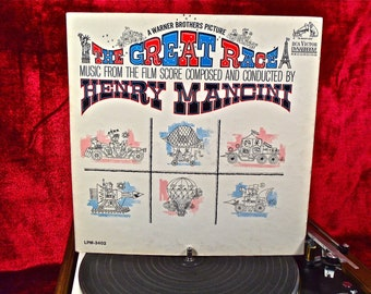 HENRY MANCINI - The Great Race - 1965 Vintage Vinyl GATEFOLd Record Album