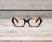 Stenzel eye glasses frame italy NOS // thick plastic tortoise