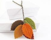 Autumn Leaves Necklace - MissEsAccessories