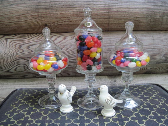 Upcycled Candy Buffet Apothecary Jars