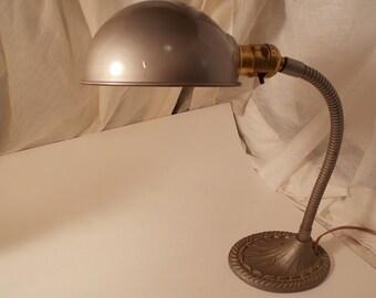 Vintage Art Deco Goose Neck Table Lamp