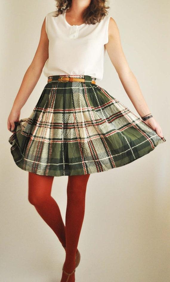 Altered Plaid Skirt