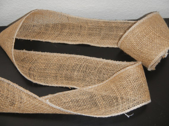 Burlap Ribbon 4 inches wide, Wedding DIY Supply, Shower, Home Decor, Crafting
