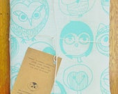 MOCHO Owl Printed Teatowel Mint