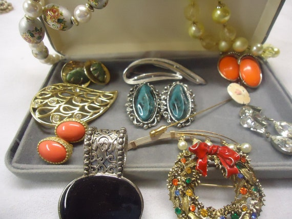RESERVED JO Vintage Jewelry Lot Costume Jewelry  Japan, Art, Onyx, Sarah Coventry, Marvella, Coro, Earrings, Pins Jewelry