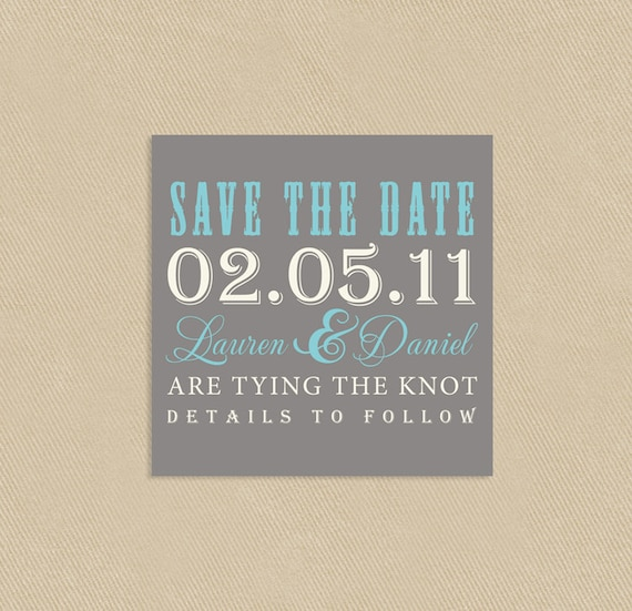 Printable save the date template 4 5 inch square vintage for Free vintage save the date templates