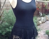 Dance Ballet Skirt- SAB Style in Black Lace- All Stretch