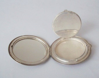 Birks Sterling Silver Compact Round Mid Century