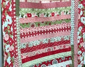 Bliss Red, Pink, Green, Turquoise Baby or Throw Quilt